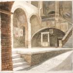 San Gimignano, Innenhof des Palazzo Communale