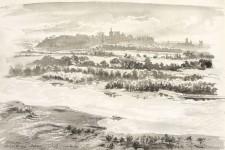 Blick vom Turm Philipps IV.auf Avignon und Pont d'Avignon
