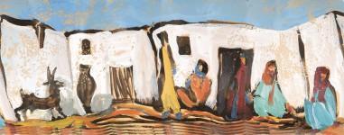 Beduinenfamilie in Bir Nasib, Sinai ,Panorama