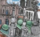 Santiago de Compostela Dom und Erzbischöfliches Palais